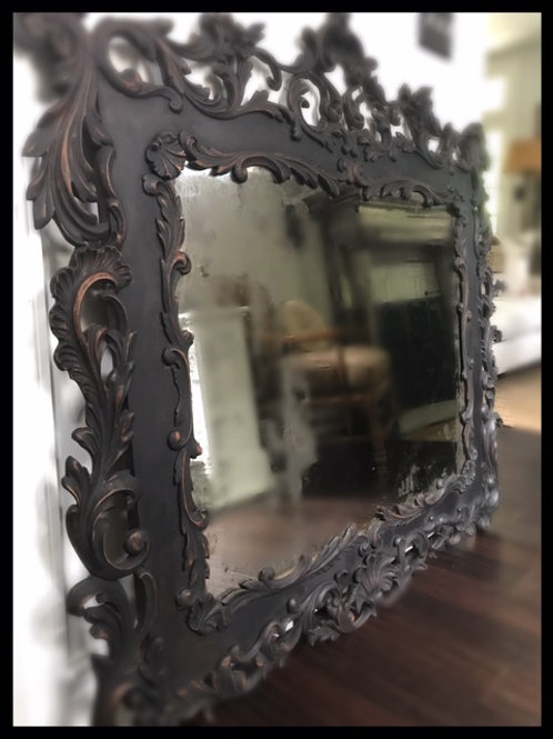 19th Century Hand Carved Large Mirror