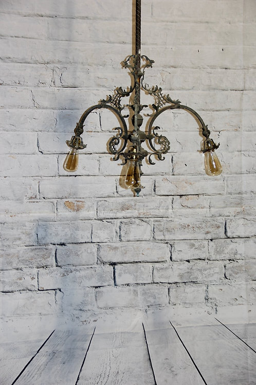Antique Copper Lighting Fixture, from Italy
