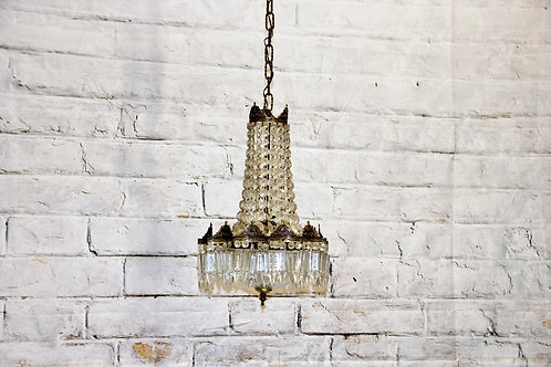 Early 19th Century Antique Petite Crystal Chandelier