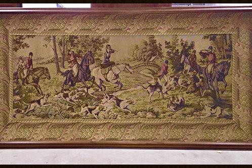 Vintage Large Framed Tapestry