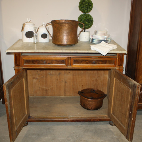 20th Century Vintage Marble Top Cabinet