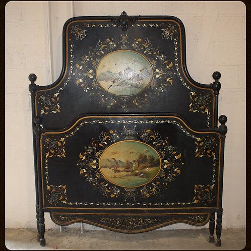 19th Century Antique Metal Bed