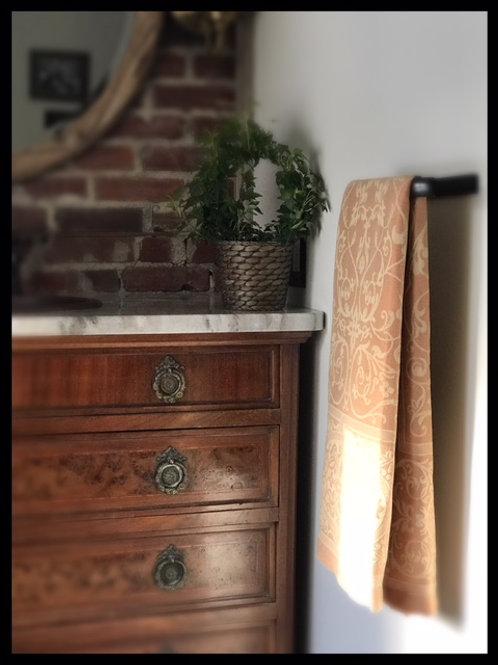 Linen Teramo Terracotta Towel