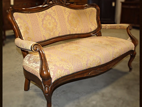 Mid 20th Century Vintage Loveseat with 2 Chairs and Ladies Footstool
