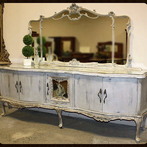 Vintage Chippendale Crendenza with Mirror
