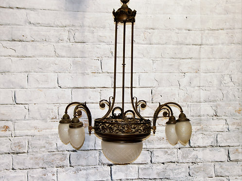 Antique 19th Century Copper Chandelier