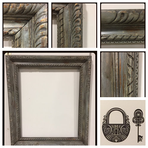 19th Century  Antique Solid Wood Picture Frame (Cornice)
