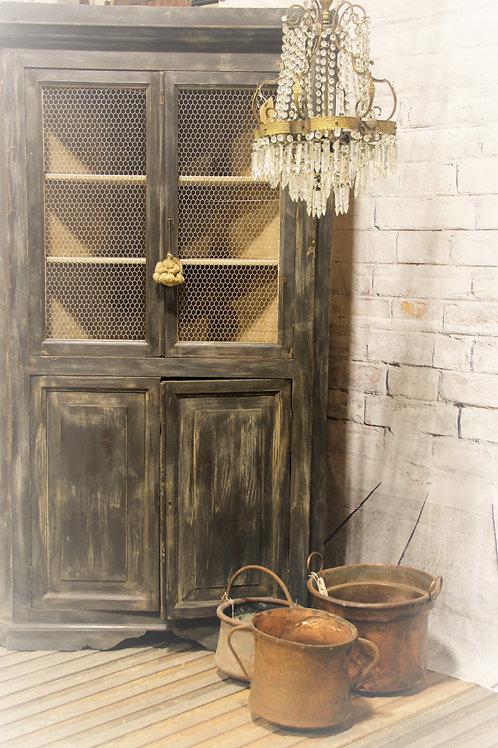 19th Century Large Antique Corner Cupboard