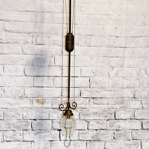 "Vintage 19th Century ""Pulley"" light fixture"
