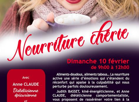 """10 février 19: atelier """"Nourriture Chérie"""""""