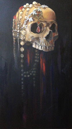 SOLD--Skull with Jewels