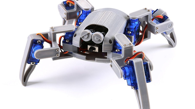 Bionic Quadruped Spider Robot Kit for Arduino,wifi Diy, STEM Crawling Robot, ESP