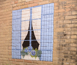 Court Yard Garden Mural