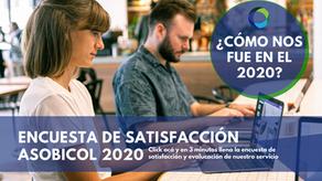 Llena la encuesta de satisfacción al cliente año 2020 Asobicol