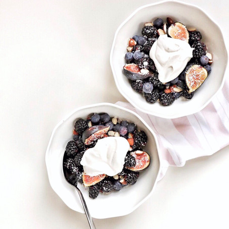 Coconut Whipped Cream & Berries