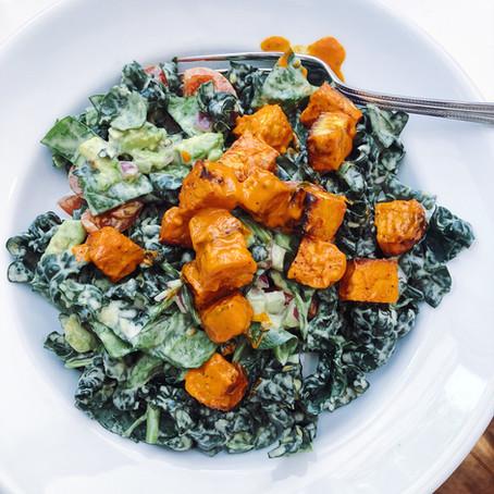 Quick Buffalo Bites Kale Salad