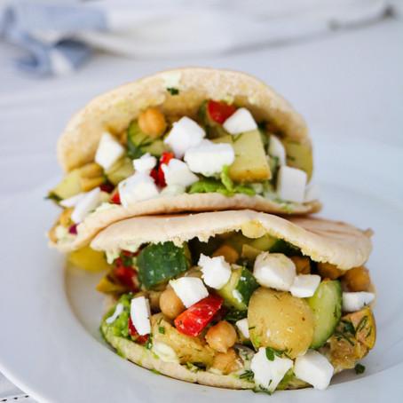 Greek Salad Pita Pockets