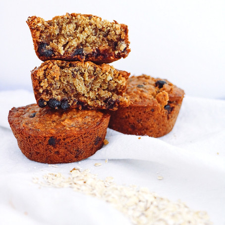 Chia Oat & Blueberry Breakfast Muffins