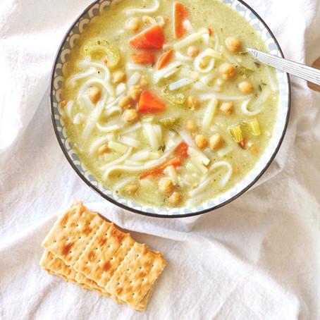 10 min Chickpea Noodle Soup