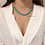 Thumbnail: White and Blue Faceted Glass Beaded Necklace