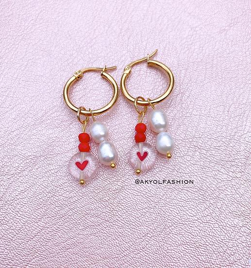 Valentines Gold Hoop Earrings