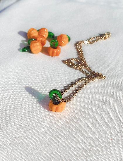 Cute Pumpkin Necklace For Halloween