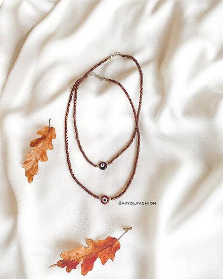 Copper Lucky Evil Eye Necklace/Choker