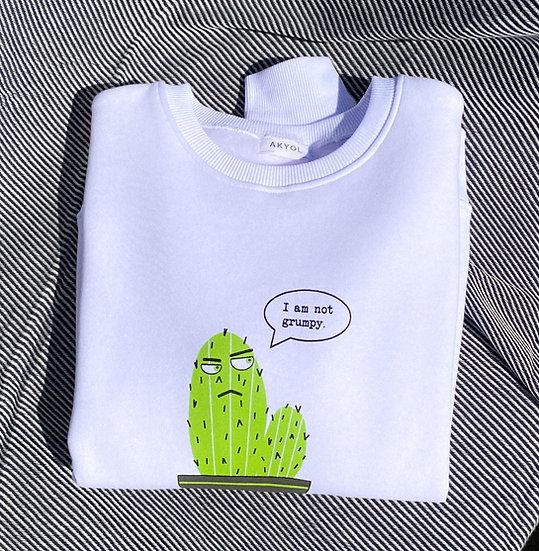 White Cactus Design Sweatshirt
