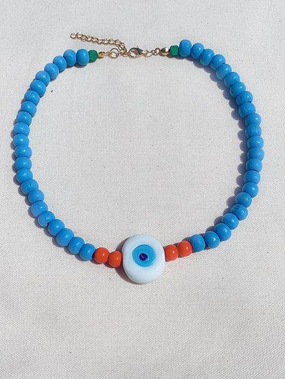 Bohemian Blue Evil Eye Necklace