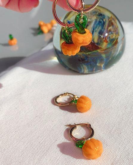 Cute Pumpkin Earrings