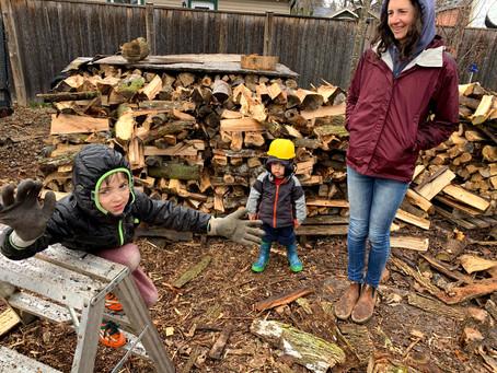 Splitting Firewood... 1.6 Bush Cord Saturday...