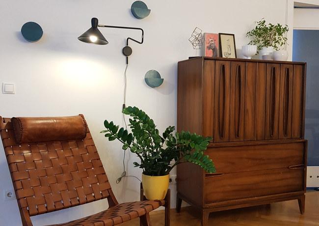 Vintage Midcentury Modern Open Space