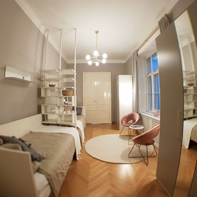 Girls Bedroom with divider