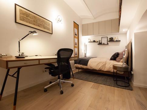 Bedroom - Modern industrial bachelor's apartment in 1180 Wien.