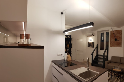 Kitchen - Modern industrial bachelor's apartment in 1180 Wien.