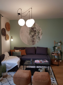 Airbnb living room in Oberlaa