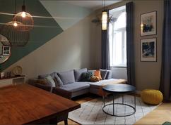 Industrial Midcentury Mix Living Room