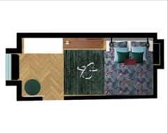 Industrial Midcentury Mix Bedroom