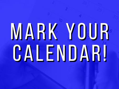 HHS - Mark Your Calendar!