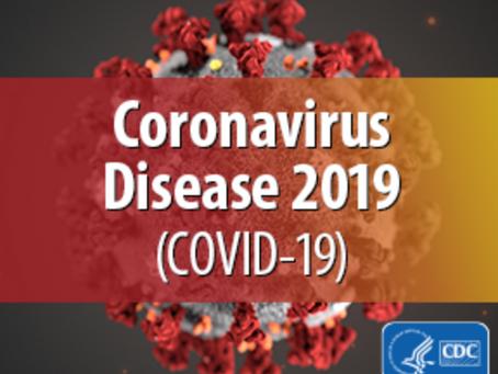 UPDATE (3/17): Coronavirus Information