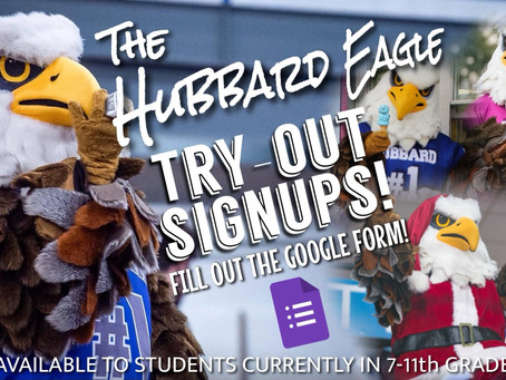 Hubbard Eagle Mascot Tryouts