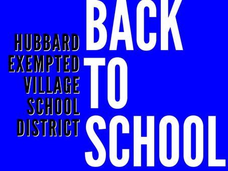 Hubbard Back to School Plans 2021-2022