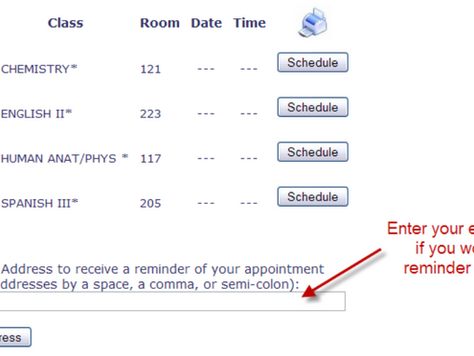 Schedule your parent-teacher conference here!