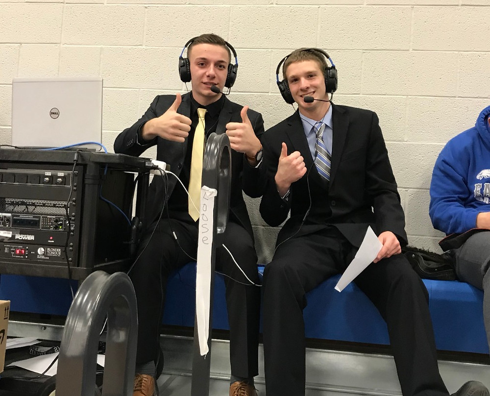 Hubbard High School students take a break in between broadcast to give us a thumbs up!