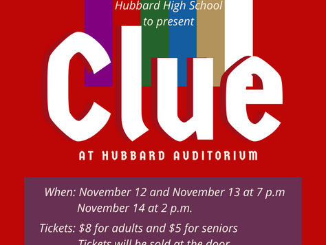 Hubbard High School students to perform Clue