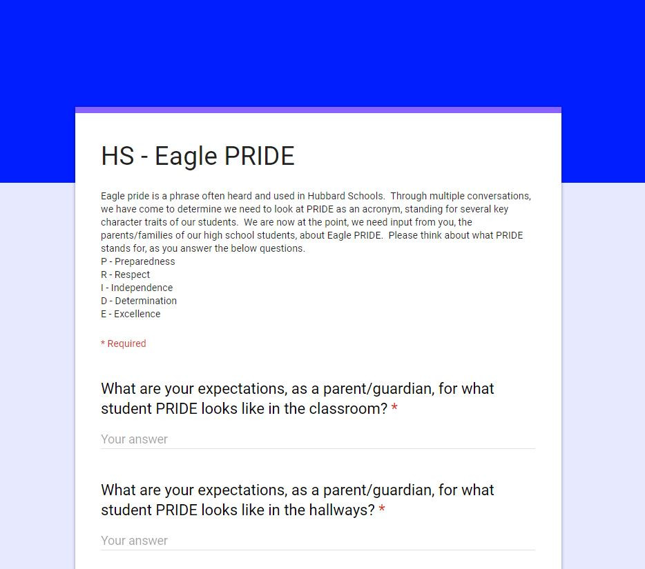 Eagle Pride Survey
