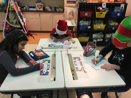 Second grade spreads holiday cheer to service members