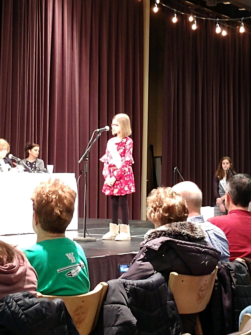 Ashlyn Martin competes in Vindicator Spelling Bee