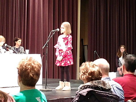Elementary student competes in Vindicator Spelling Bee