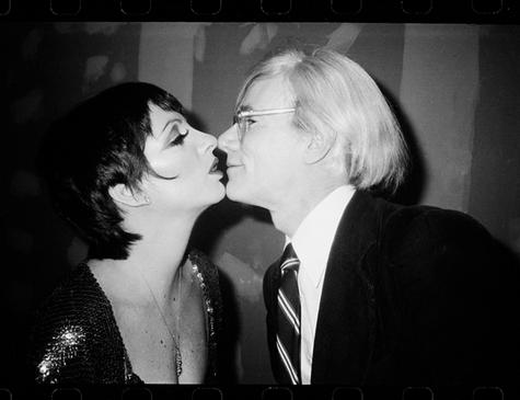 Andy Warhol Kissing Liza Minnelli